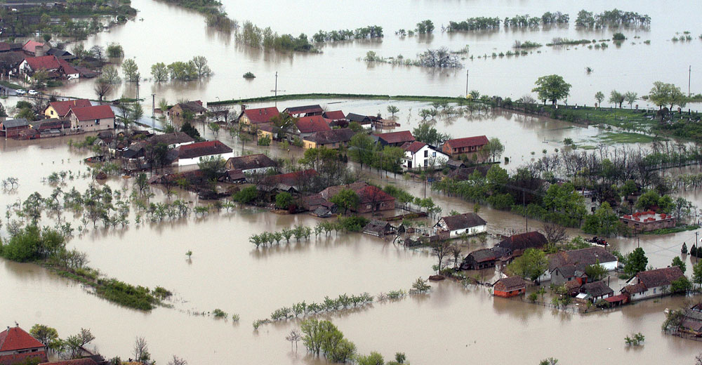 flooded-house-aerial-view-stentor application Acoustic Hailing Device -Acoustic Hailing -Speaker